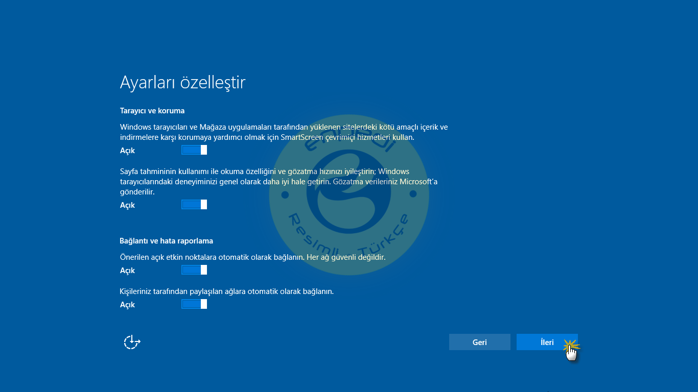 Windows 10 y kseltme kurulumu windows 10 for Cpm windows 10