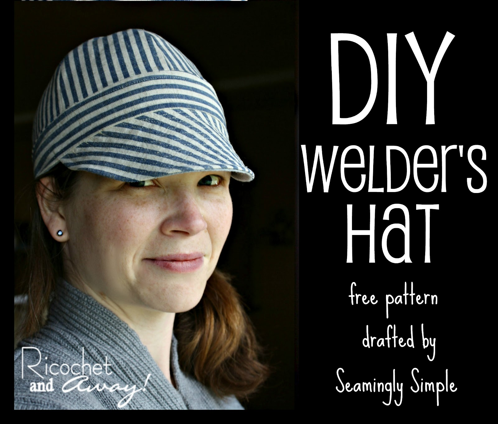 graphic about Printable Welding Cap Pattern identify Ricochet and Absent!: Welders Hat: I discovered a absolutely free habit!
