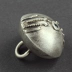Fine silver bead with granulation