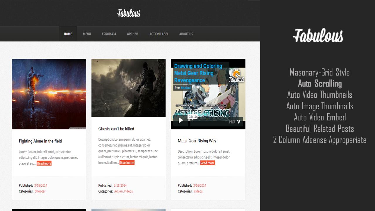 Fabulous Blogger Premium Templates Free Download Soratemplates