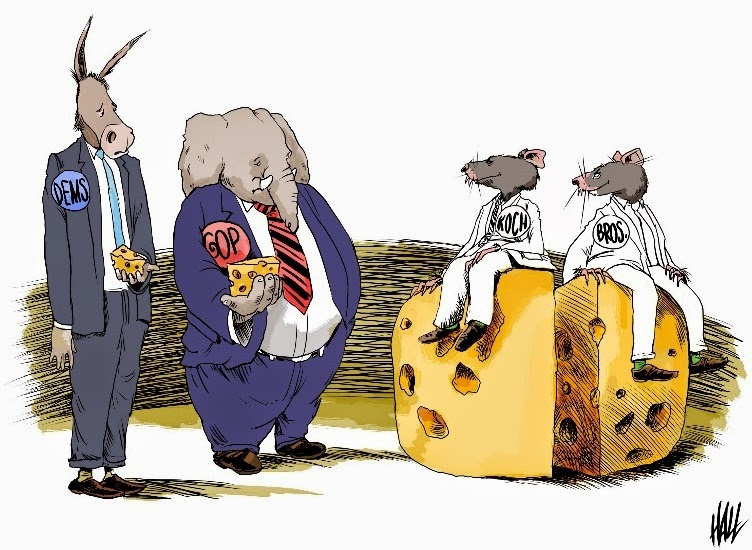Ed Hall: Big Cheese Koch Brothers.