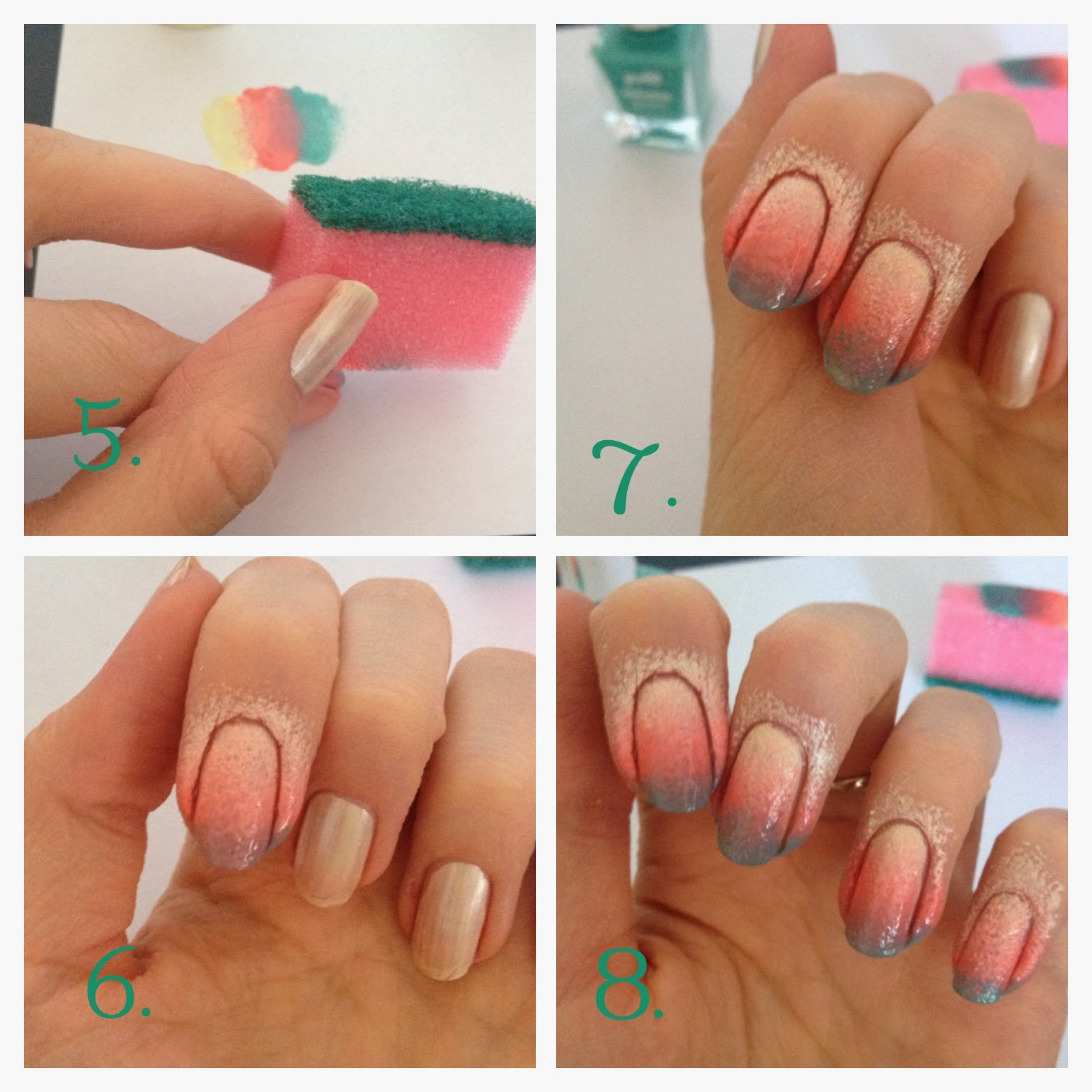 Градиент на ногтях шеллаком как сделать