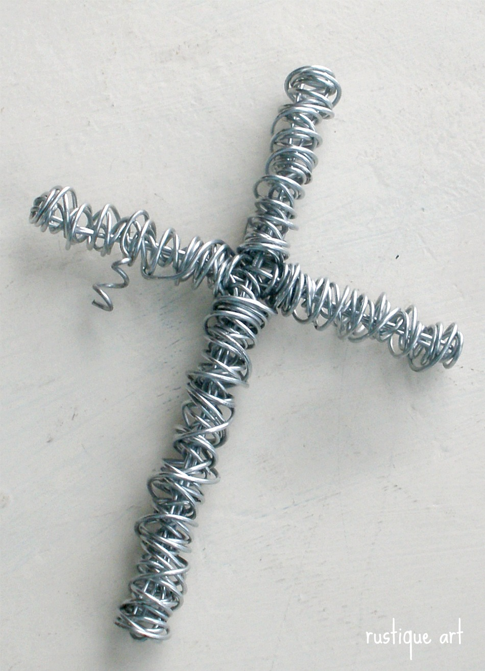 Rustique Art: Designing a Beaded Wire Cross