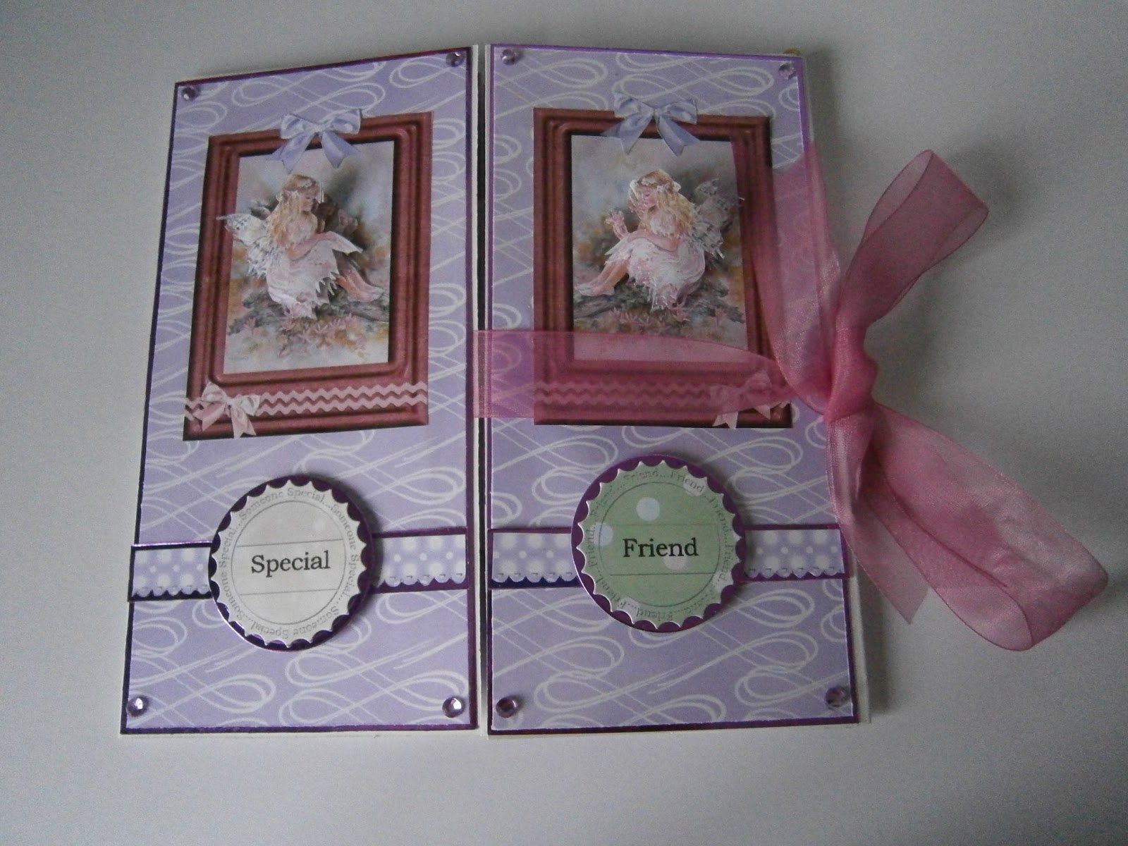 Hooked on Krafts: Tutorial for Double Tri Fold card using Faerie Poppets
