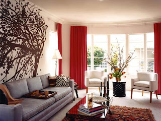 Red and White Living Room Designs8
