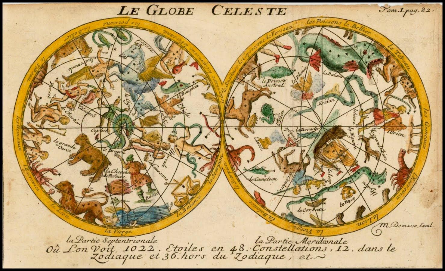 Title: Le Globe Celeste   Map Maker: Pherotee De La Croix