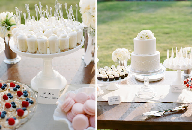 White Wedding Desserts and Cake by Cocoa & Fig