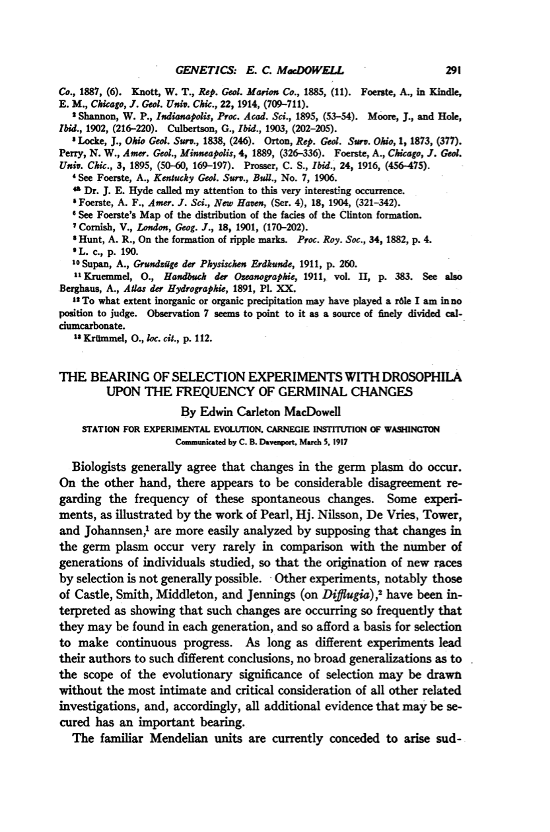Paper in PNAS from 1917