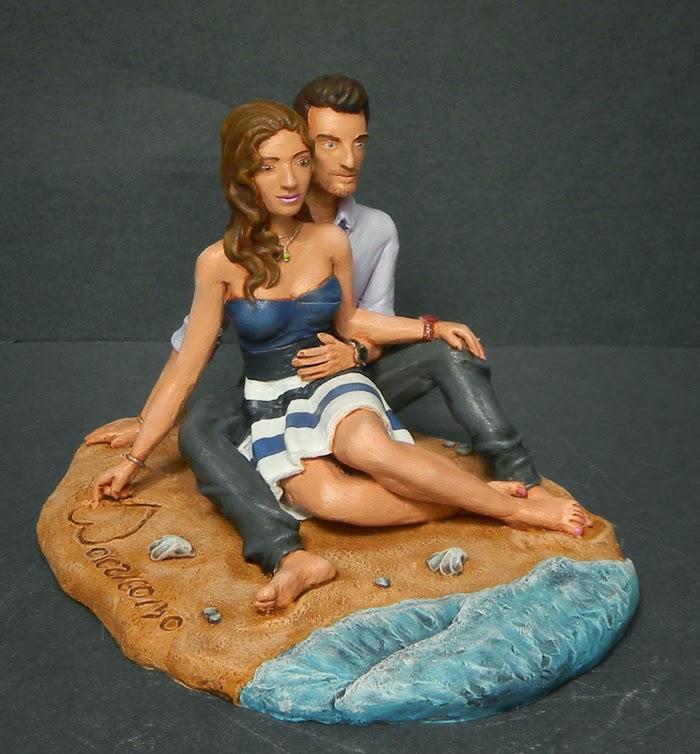 regali creazioni artigianali statuette personalizzate fidanzato orme magiche