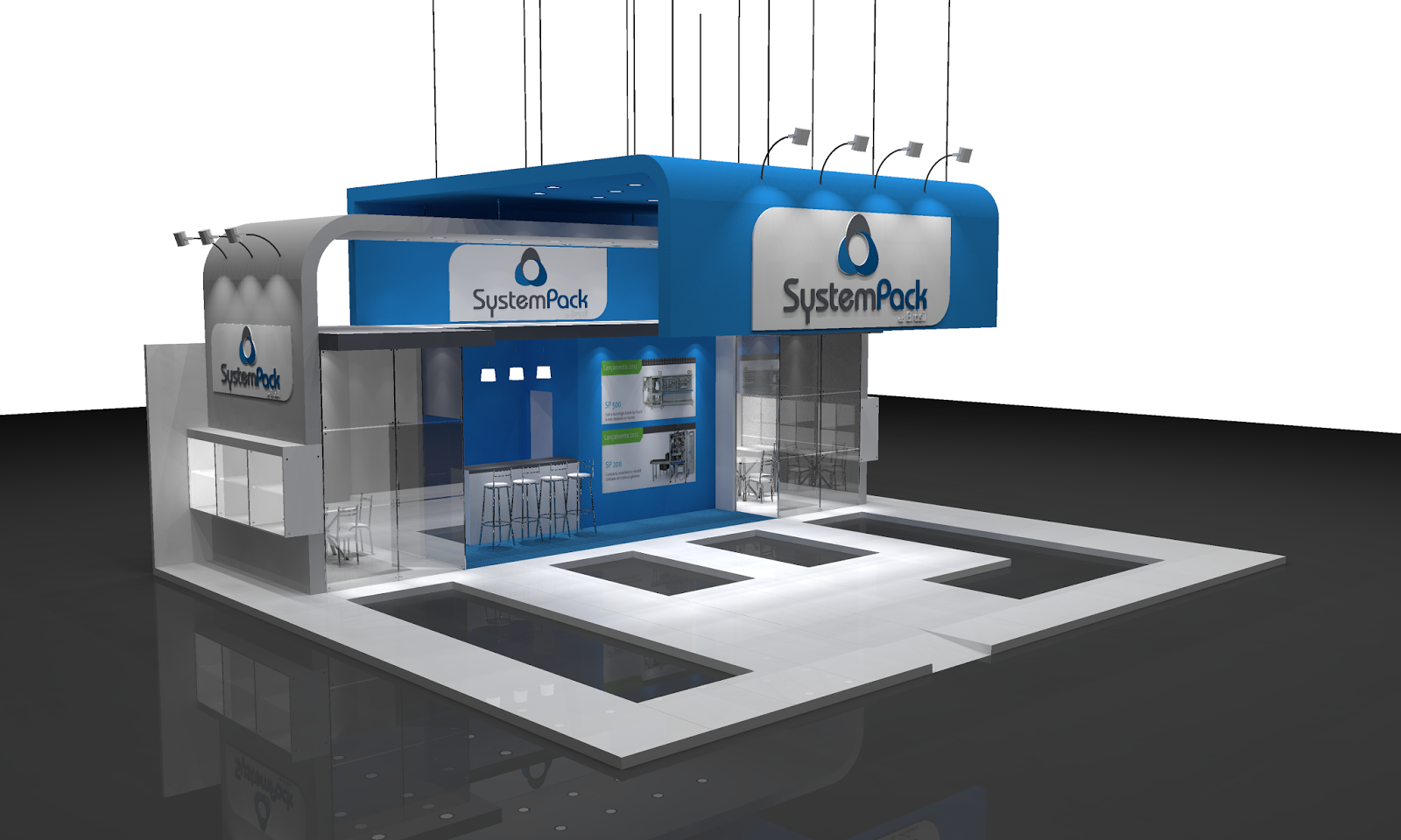 Exhibition Stand Design Sketchup : Vitoria souza produções stand system pack sketchup