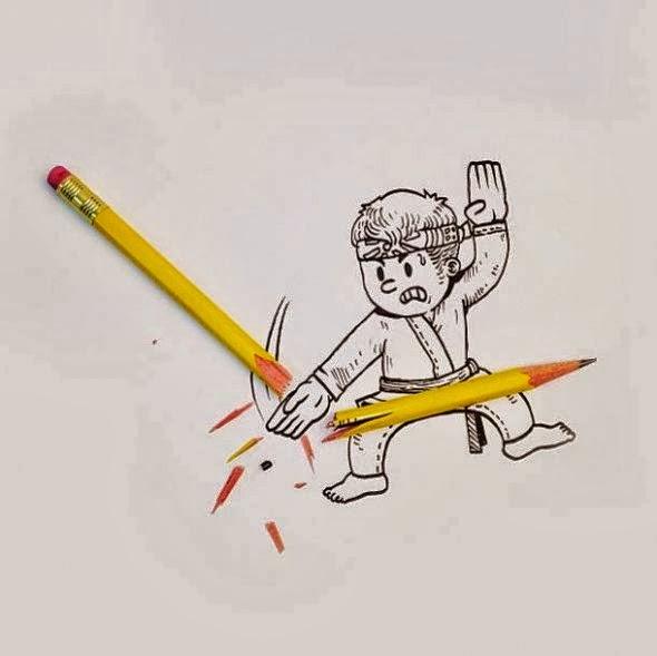 imagens criativas - desenhos - karate kids