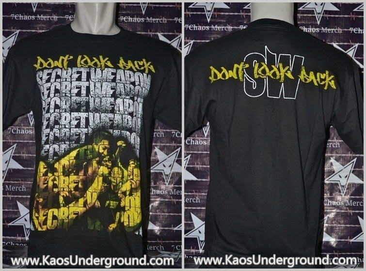 kaos band pontianak secret weapon hardcore underground
