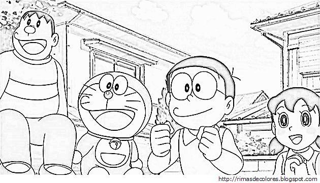 Blog de los niños: Doraemon para colorear