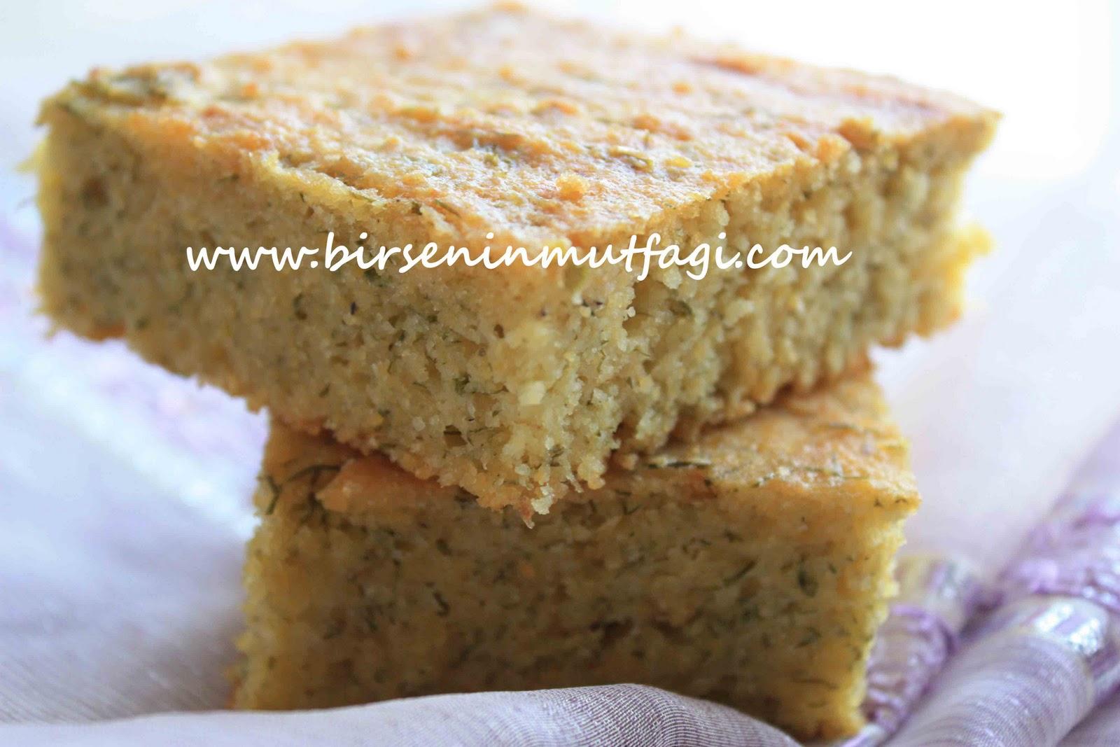 Dereotlu peynirli mısır unu ekmeği