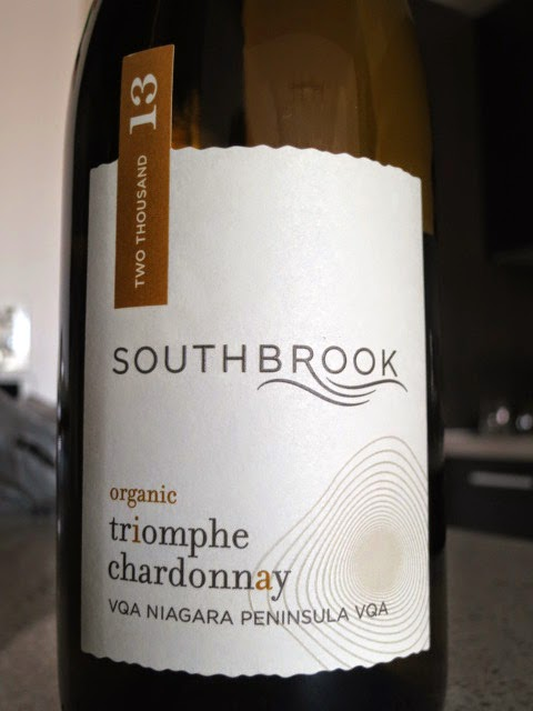 Wine Review of 2013 Southbrook Triomphe Chardonnay from VQA Niagara Peninsula, Ontario, Canada