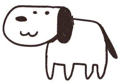 犬のイラスト(戌年・干支)線画