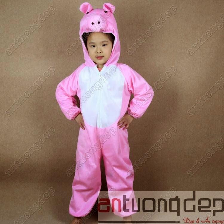 trang phục thú hở mặt cho bé