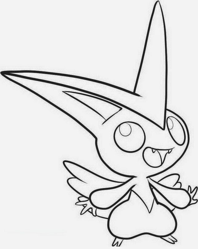 Victini Legendary Pokemon Coloring Pages Coloring Pages