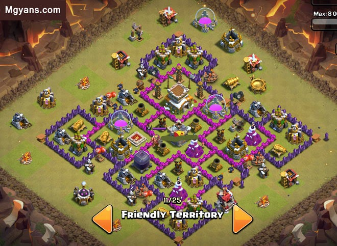 Base Th 8 Terbaik Terkuat anti giants dan hogs 2