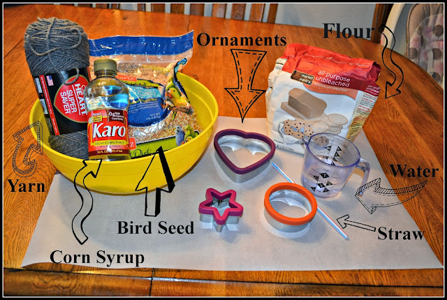 Winter Craft for Toddlers:  Bird Seed Ornaments