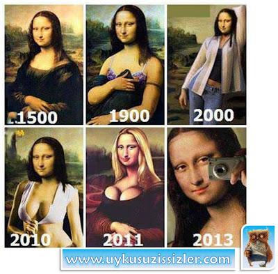 Yüzyıllar boyunca Mona Lisa'daki değişim.. http://www.uykusuzissizler.com/