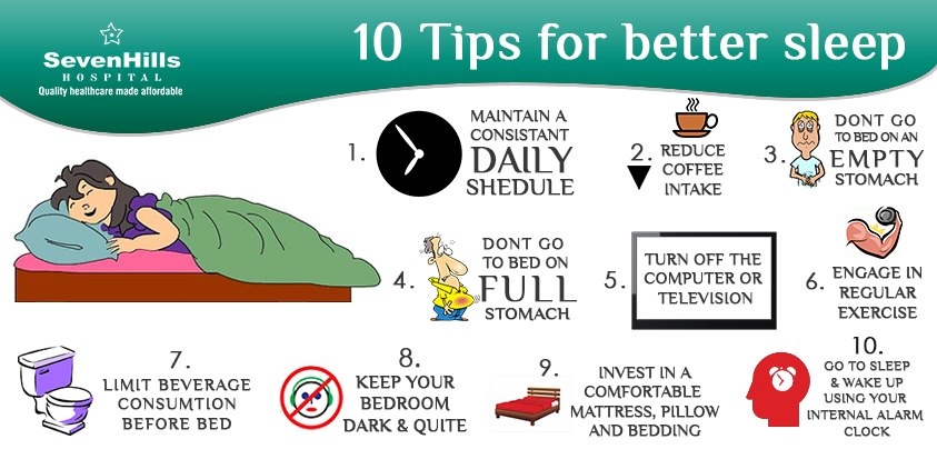 """ 10 Tips for better Sleep """