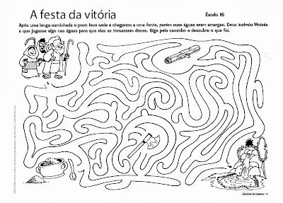 Atividades bíblicas labirinto para imprimir
