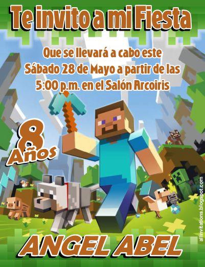 Minecraft Birthday Party Invites futurecliminfo