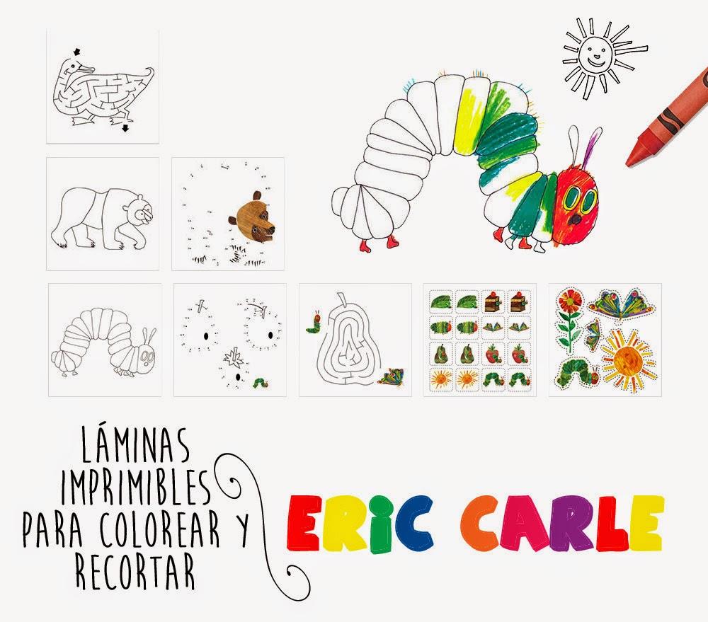 Mi Mundo sabe a Naranja: Láminas de Eric Carle