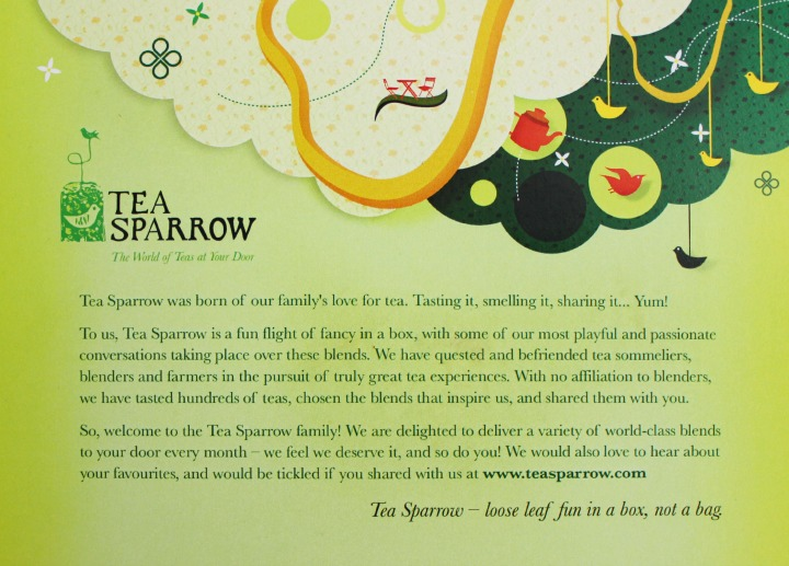 Tea Sparrow subscription box info card