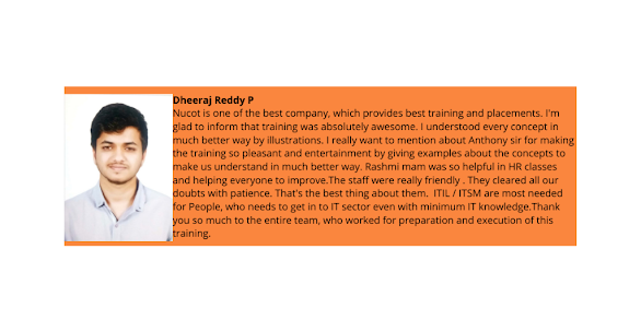 Dheeraj Reddy- Testimonial / Review About Nucot