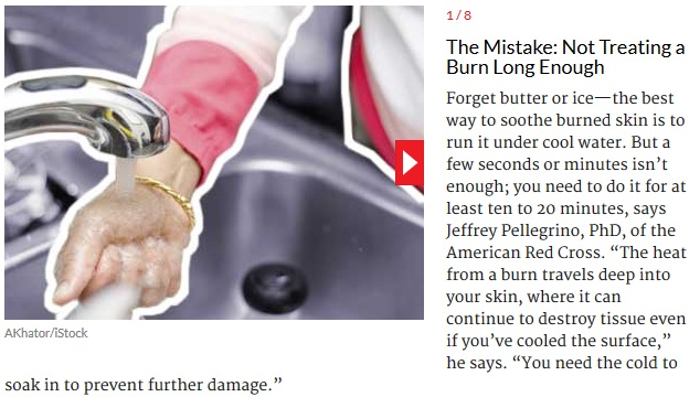 Sooth Burned Skin: Not Treating a Burn Long Enough