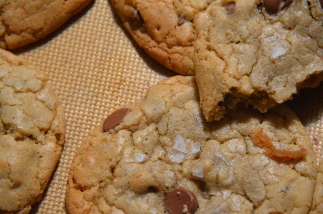 Gluten Free Milk Chocolate Chip Cookies w/Sea Salt    Cheesy Pennies