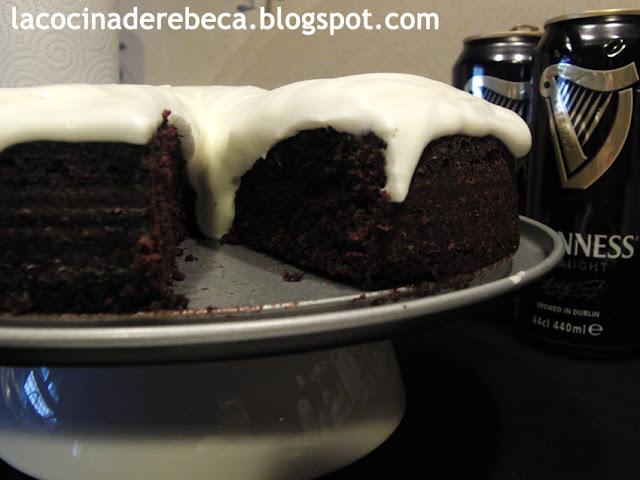 Tarta Guinness (de cerveza negra o Guinness stout chocolate cake)
