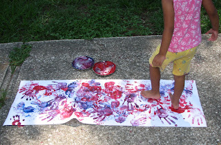 Paint with your feet!