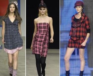 fotos de vestidos xadrez