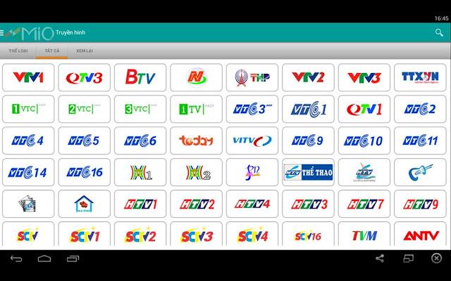 Kênh sách kênh truyền hình phát qua Xmio Viettel