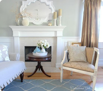 Life love and a farmhouse january 2013 for Benjamin moore tranquility living room