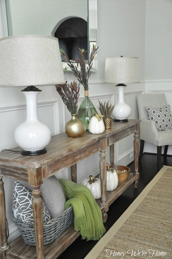 Honey Were Home Fall Decor Console Styling
