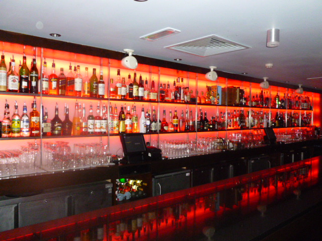 the laska bar in guernsey had a complete refit and chose to use instyle led to supply the led lighting to create mood and atmosphere back bar lighting