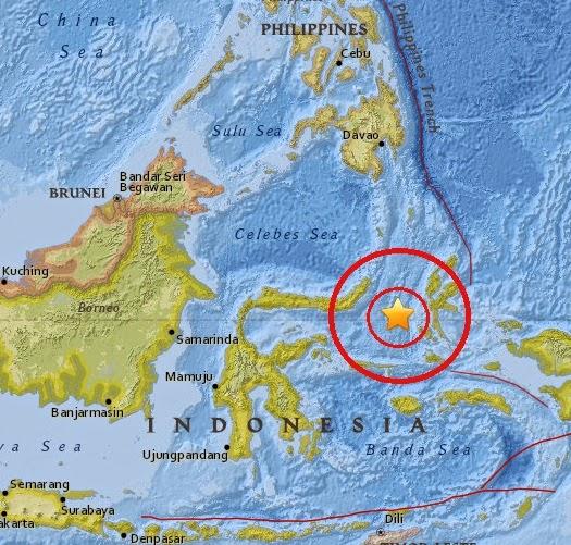 Magnitude 4.9 Earthquake of Kota Ternate, Indonesia 2015-04-08