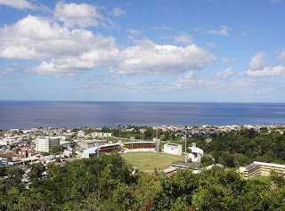 David trained at Windsor Park–Dominica's national stadium, primarily used for cricket matches. (Photo by J. Besl)