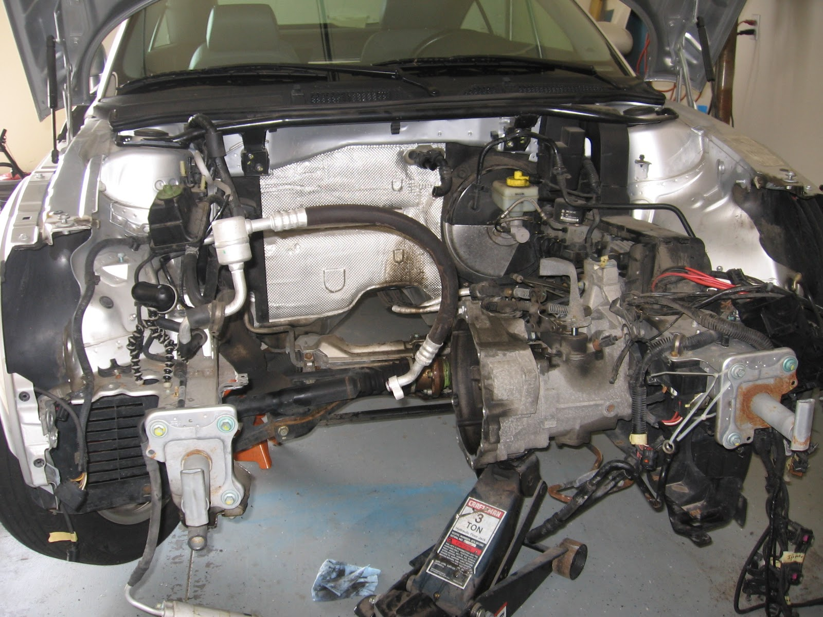Electric Audi Tt Coupe Getting The Engine Out