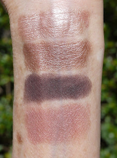 swatched in clockwise order starting with the beautiful shimmering