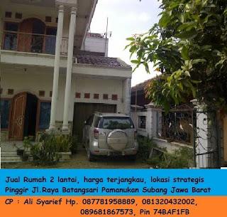 Jual Rumah 2 Lantai - Lokasi strategis - Harga Terjangkau - Info Ali Syarief Hp. 089681867573-087781958889 - 081320432002 – 085724842955 Pin 74BAF1FB