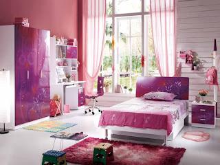 Desain Kamar Anak Warna Pink
