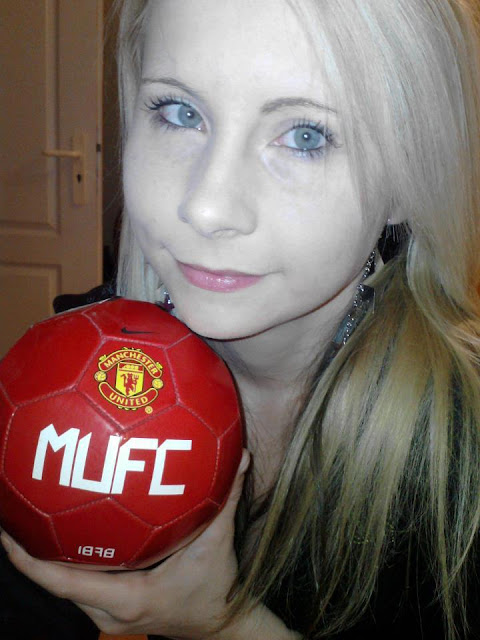 A Slovak girl with a Manchester United ball