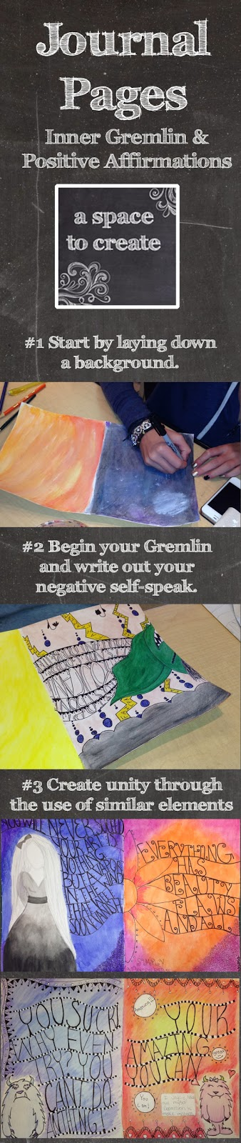 http://www.teacherspayteachers.com/Product/Journal-Pages-Inner-Gremlin-and-Postive-Affirmations-Lesson-999295