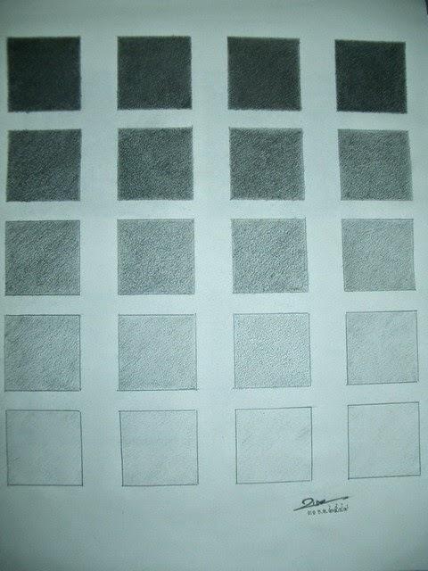 วาดรูป สี่เหลี่ยม 2 x 2 นิ้ว 4 แถว แถวละ 5 ช่อง