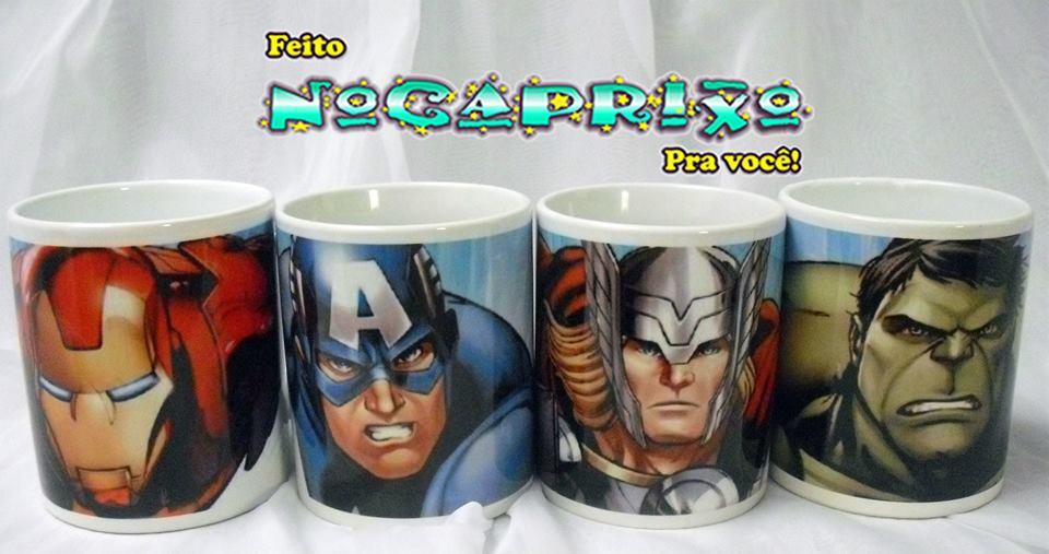 Canecas Personalizadas - Super Heróis